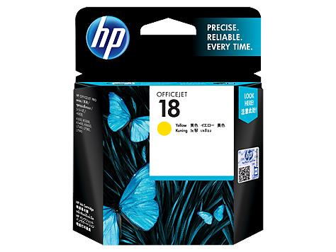 HP 18 Yellow Original Ink Cartridge(C4939A)