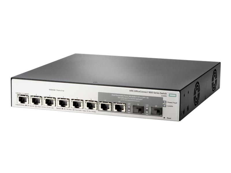 HP 1850 6XGT 2XGT/SFP+ Switch 10G uplink JL169A