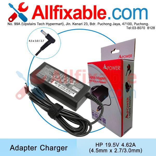 HP 19.5v 4.62a (4.5x3.0) Envy Spectre 14-1000 14-2000 Adapter charger