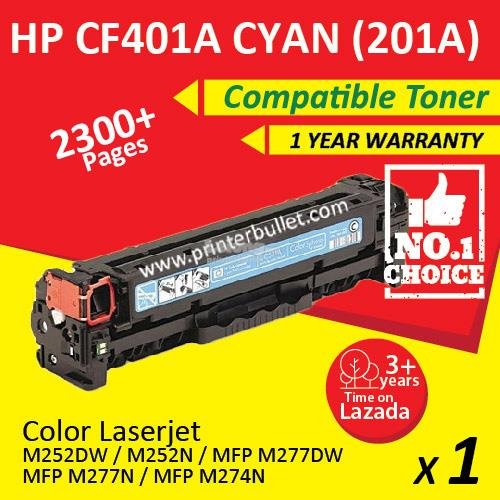 HP 201A CF401A Cyan HIGH YIELD Compatible Colour Laser Toner
