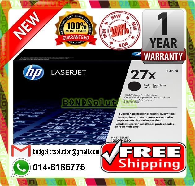 NEW HP 27X / C4127X Toner 4000 4050 (FREE SHIPPING)