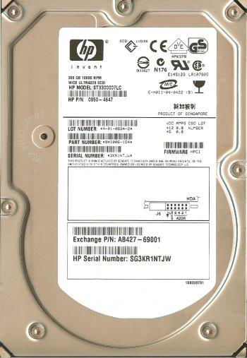 HP 300GB 10k 3.5? SCSI Hard Drive 350964-B22 404701-001 365695-009
