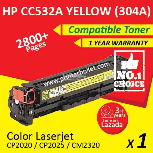 HP 304A CC532A Yellow High Quality Compatible Toner Cartridge
