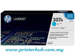HP 307A (CE741A) Cyan Original LaserJet Toner Cartridge