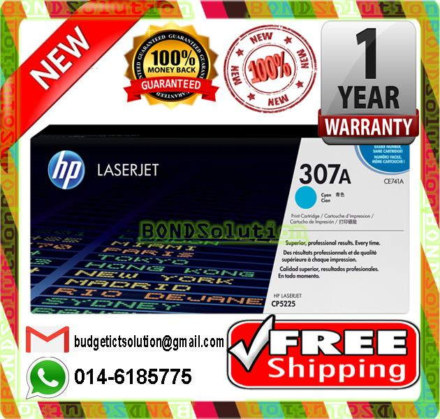 NEW HP 307A / CE741A CYAN Toner CP5220 5225 5220 (FREE SHIPPING)