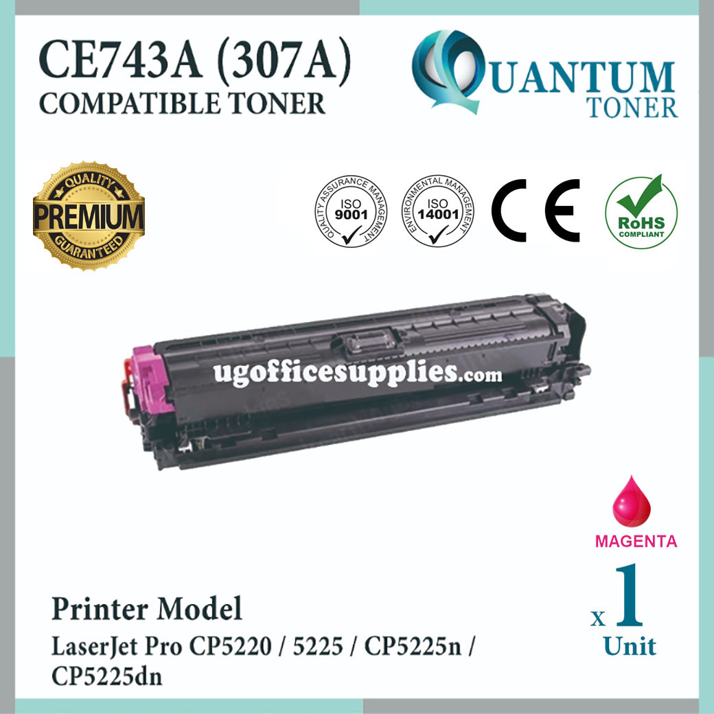 HP 307A / CE743A MG High Quality Compatible Colour Laser Toner Magenta Cartrid