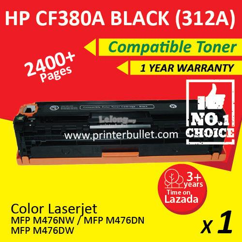 HP 312A CF380A Black High Quality Compatible Tober Cartridge
