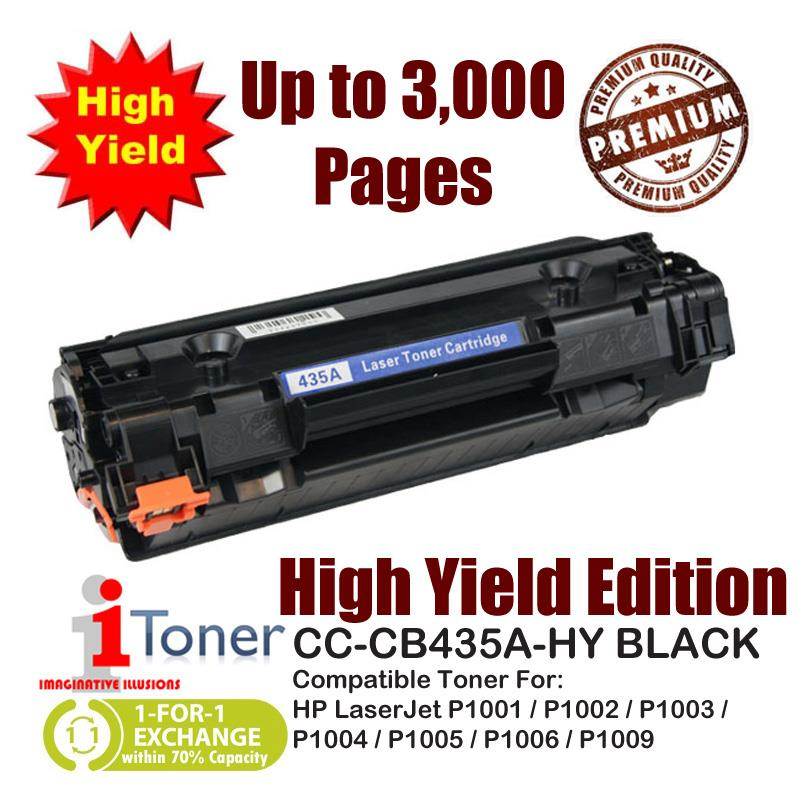 HP 35A CB435A Grade-A Compatible Toner 1,500+1,500 Pages High Yield