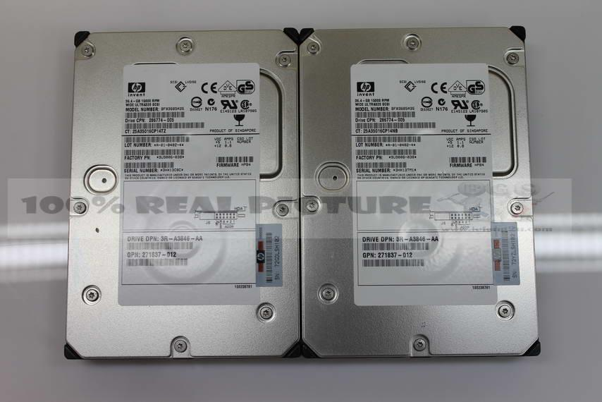 HP 36.4 GB 15000RPM 286774-005 WIDE ULTRA320 SCSI 80PIN HDD