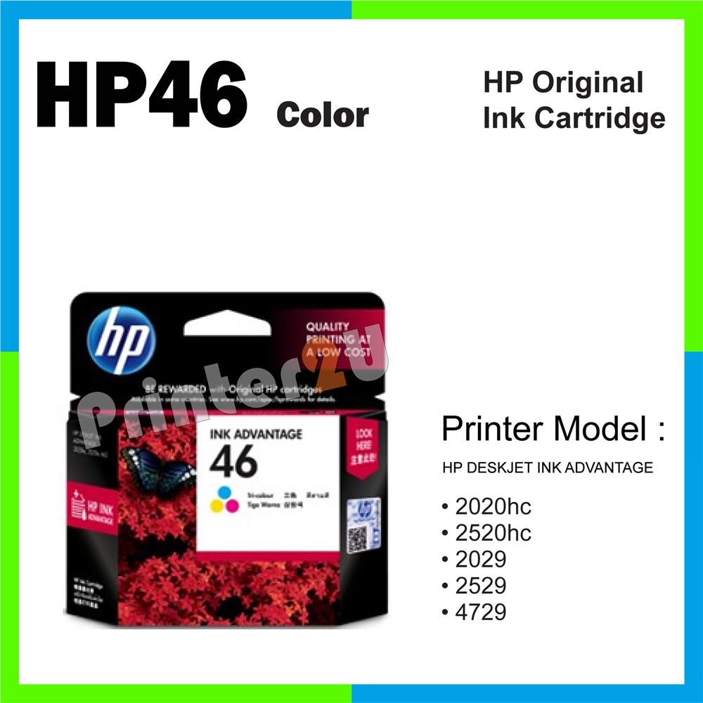 HP 46 Original Inkjet Ink Cartridge HP 46 Color 2529 4729