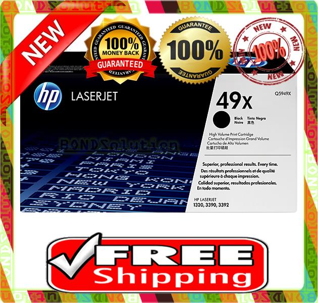 NEW HP 49X / Q5949X Toner 1320 3390 3392 (FREE SHIPPING)