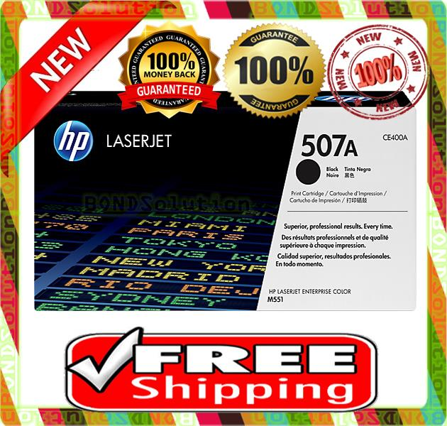 NEW HP 507A / CE400A BLACK Toner M551 M575 M570 (FREE SHIPPING)