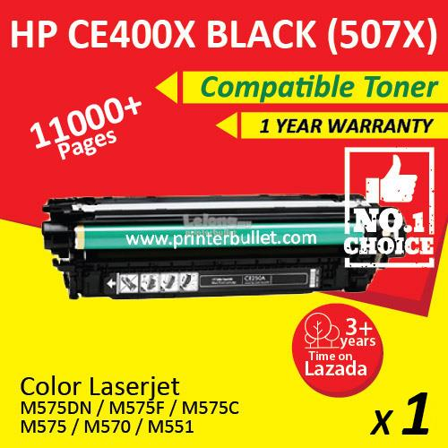 HP 507A / CE400X / CE400A Black High Yield Compatible Toner Cartridge