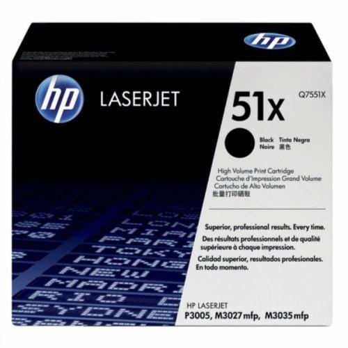 HP 51X Black LaserJet Toner Cartridge (Q7551X)