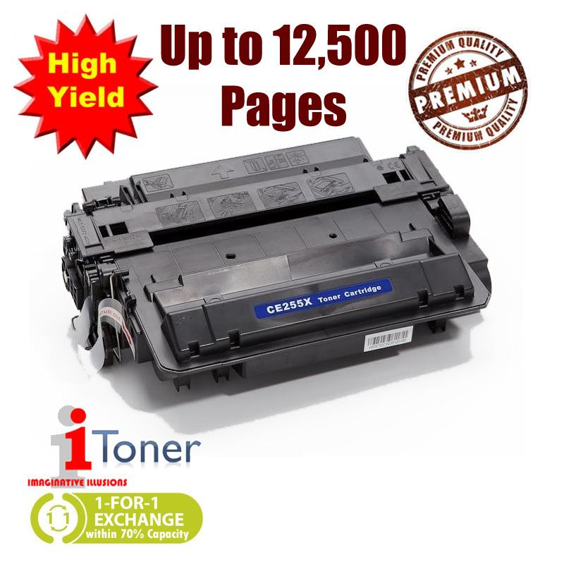 HP 55X CE255X High Yield Grade-A Compatible Toner