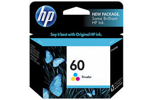 HP 60 COLOUR Ink (Genuine) CC643WA HP60 D2560 D2660 F2480