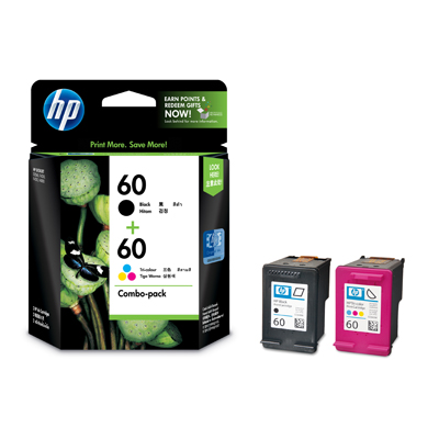 HP 60 COMBO BLACK+COLOUR Ink (Genuine) CN067AA HP60 D2560 D2660 F2480