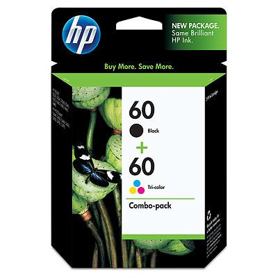 HP 60 COMBO VALUE PACK INK CARTRIDGE (CN067AA)