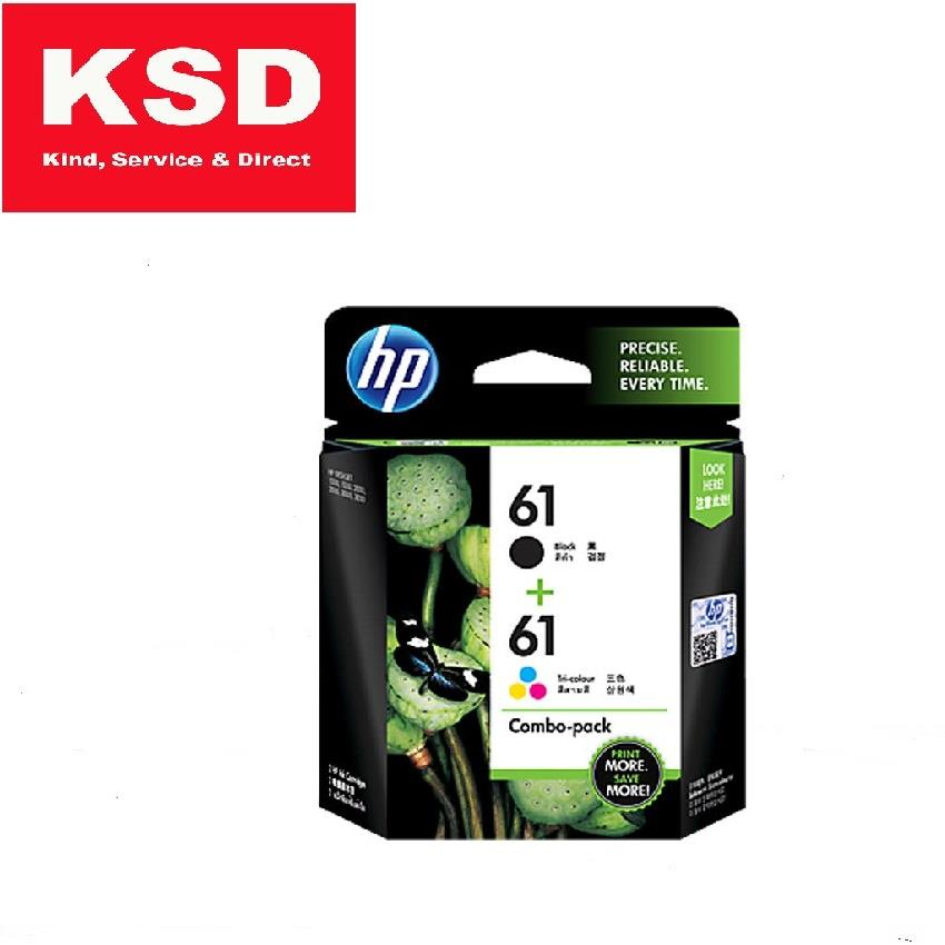 HP 61 Ink Cartridge Combo Pack (Black + Tri-color)