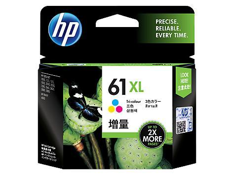 HP 61XL High Yield Tri-color Original Ink Cartridge (CH564WA)