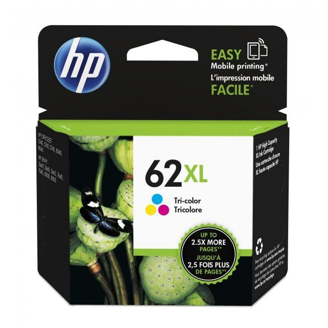 HP 62XL Color Ink (Genuine) C2P07AA 5540 5542 5640 7640 5740 62