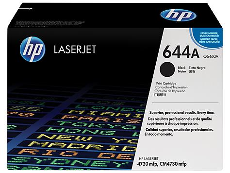 HP 644A Black Original LaserJet Toner Cartridge(Q6460A)