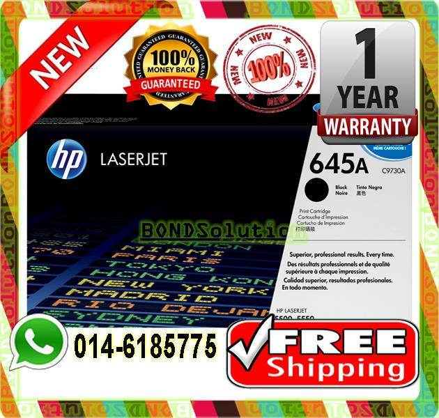 NEW HP 645A / C9730A BLACK Toner 5500 5550 (FREE SHIPPING)