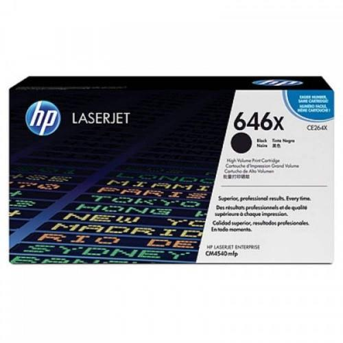 HP 646X Black LaserJet Toner Cartridge (CE264X)