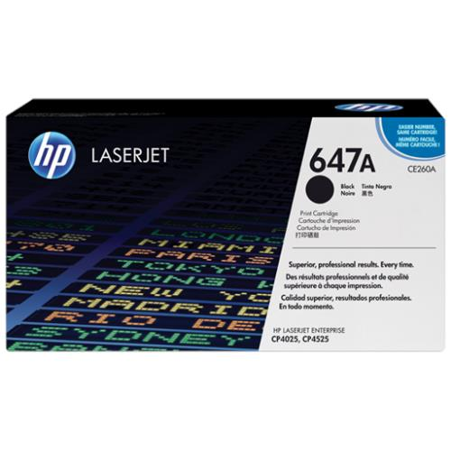 HP 647A Black LaserJet Toner Cartridge (CE260A)