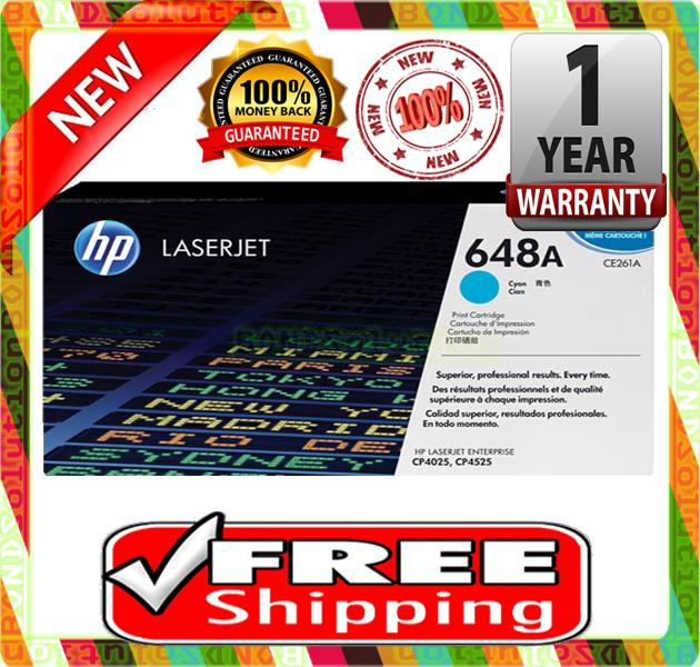 NEW HP 648A / CE261A CYAN Toner 4025 4520 4525 (FREE SHIPPING)