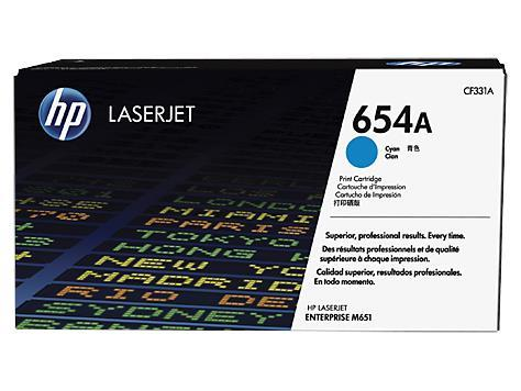 HP 654A Cyan Original LaserJet Toner Cartridge(CF331A)