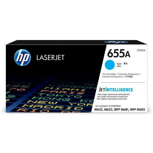 HP 655A Cyan Toner Cartridge - 10.5k	(CF451A)