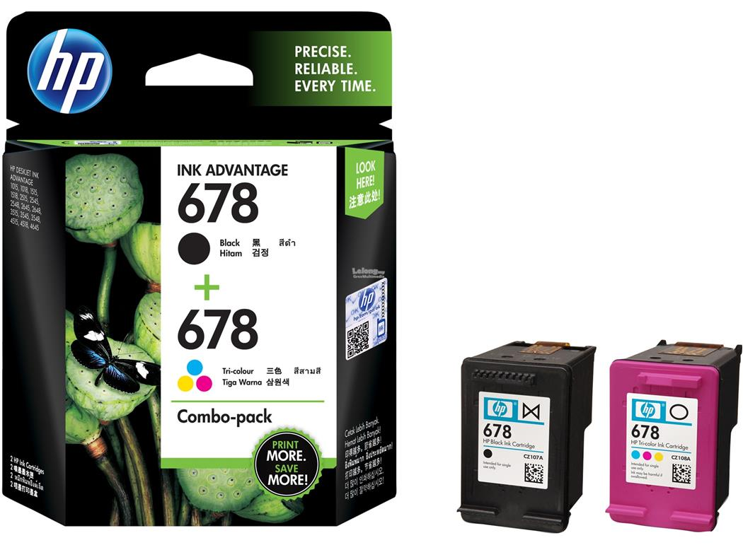 HP 678 BLACK+COLOUR CARTRIDGE (COMBO) ORIGINAL L0S24AA
