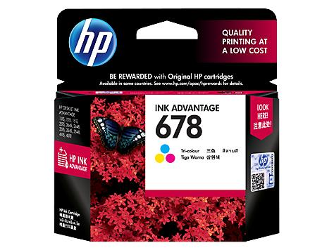 HP 678 Color Original Ink Cartridge