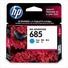 Hp 685 Cyan Ink Cartridge (CZ122AA) 4615 4625 5525 6525 122