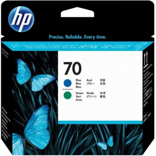 HP 70 DesignJet Printhead Photo Blue/Green (C9408A)