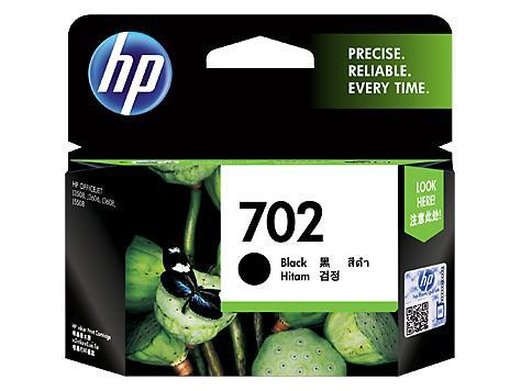 HP 702 Black Original Ink Cartridge (CC660AA)
