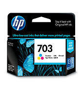 HP 703 Color Ink (Genuine) CD888AA D730 F735 K109a K209a K510
