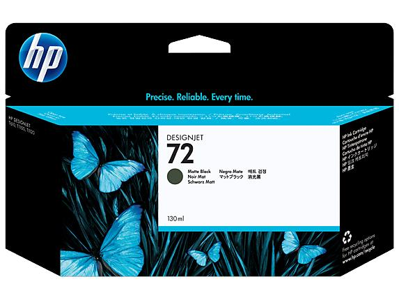 HP 72 130-ml Matte Black DesignJet Ink Cartridge C9403A