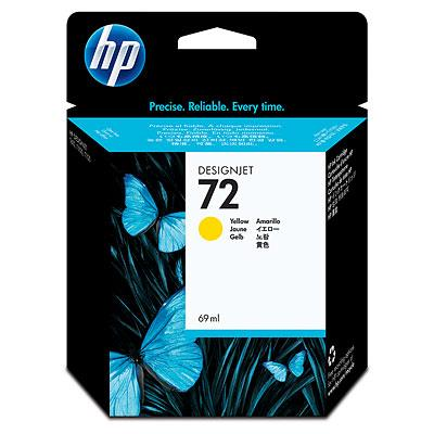 HP 72 69ml Yellow Ink(Genuine) C9400A T610 620 770 790 1100 1120 9400