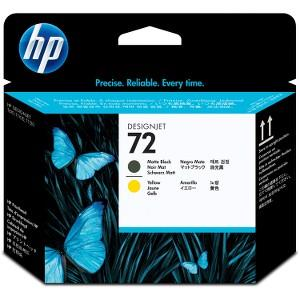 HP 72 Matte Black / Yellow Printhead C9384A