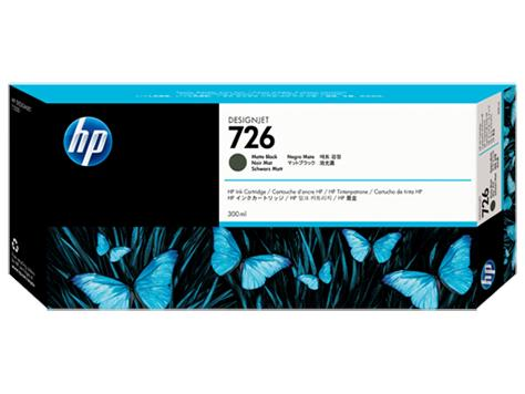 HP 726 300-ml Matte Black DesignJet Ink Cartridge(CH575A)