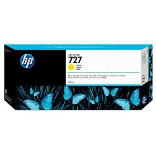 HP 727 300ml Yellow DesignJet Ink Cartridge (F9J78A)