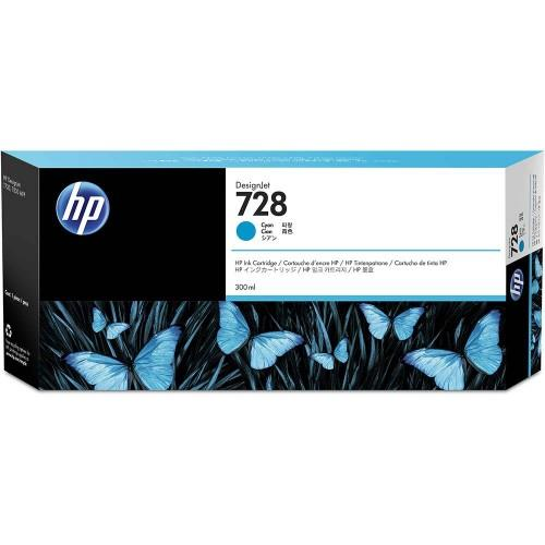 HP 728 300ml Cyan DesignJet Ink Cartridge (F9K17A)