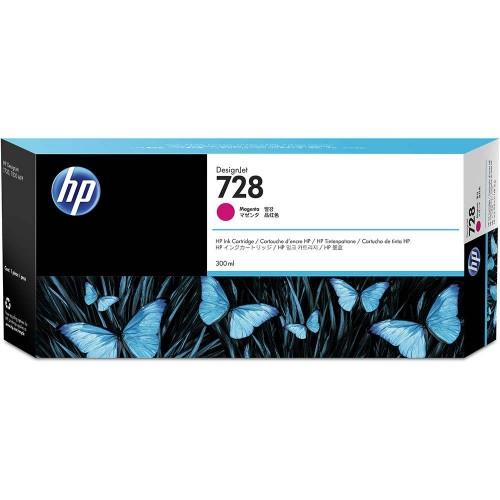 HP 728 300ml Magenta DesignJet Ink Cartridge (F9K16A)