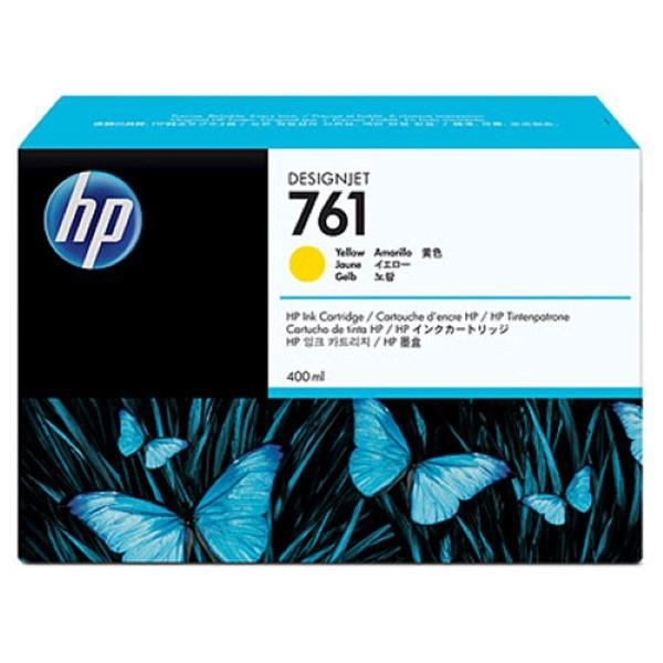 HP 761 400-ml Yellow Designjet Ink Cartridge (CM992A)