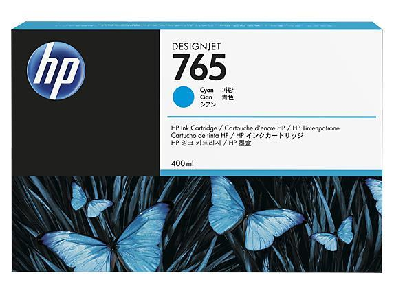HP 765 (F9J52A) 400ML CYAN INK CARTRIDGE