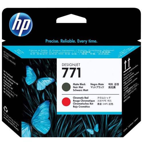 HP 771 DesignJet Printhead Matte Black/ Chromatic Red (CE017A)