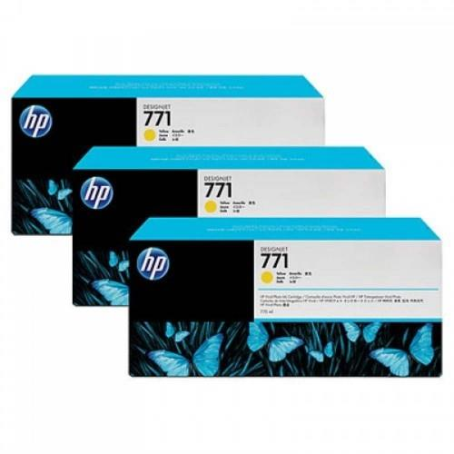 HP 771B 3-pack 775ml Yellow Designjet Ink Cartridges (B6Y26A)