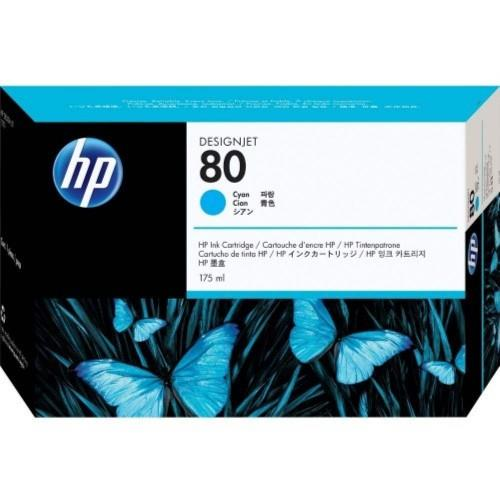 HP 80 DesignJet Ink Cartridge 175ml Cyan (C4872A)